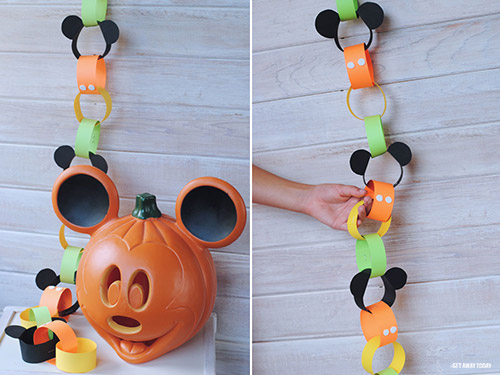 Disney Halloween Countdown Chain Finished