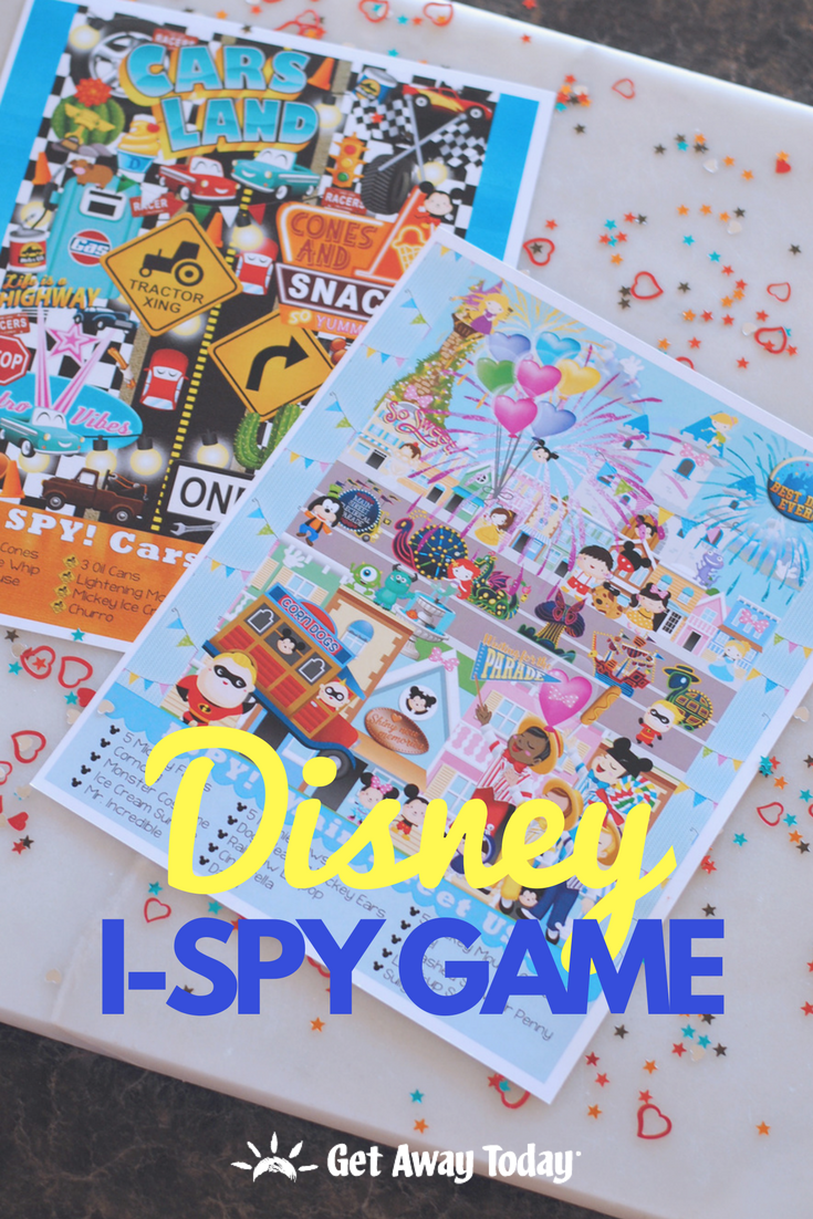 Disney I Spy Game: Main Street U.S.A and Cars Land || Get Away Today
