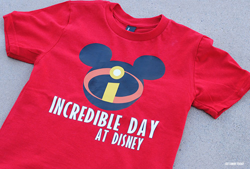 Disney Incredibles T-Shirt Design