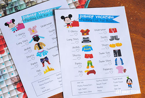Disney Packing Lists