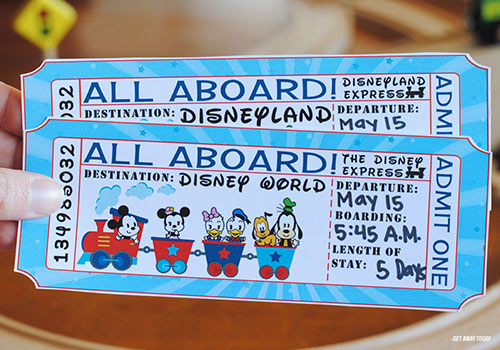 Disney Railroad Ticket Vacation Surprise Finished Product