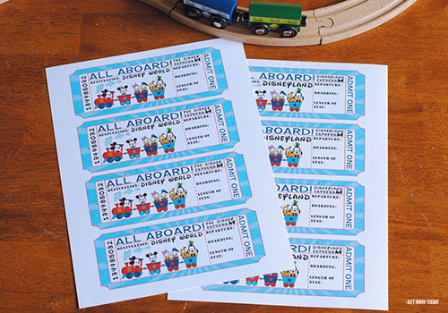 photo regarding Free Printable Disney Tickets identified as Disney Railroad Ticket Getaway Speculate