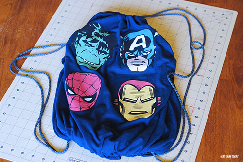Disney Drawstring Bag Tutorial