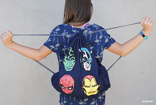 Disney Drawstring Bag Tutorial Pull