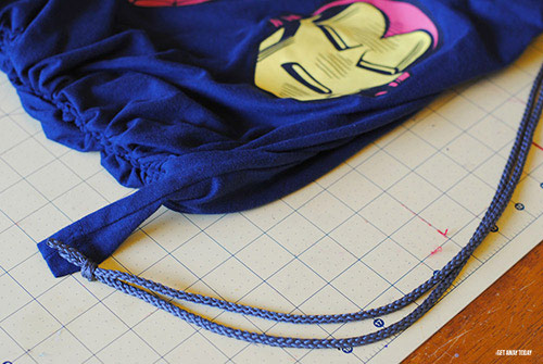 Disney Drawstring Bag Tutorial Shirts Sides