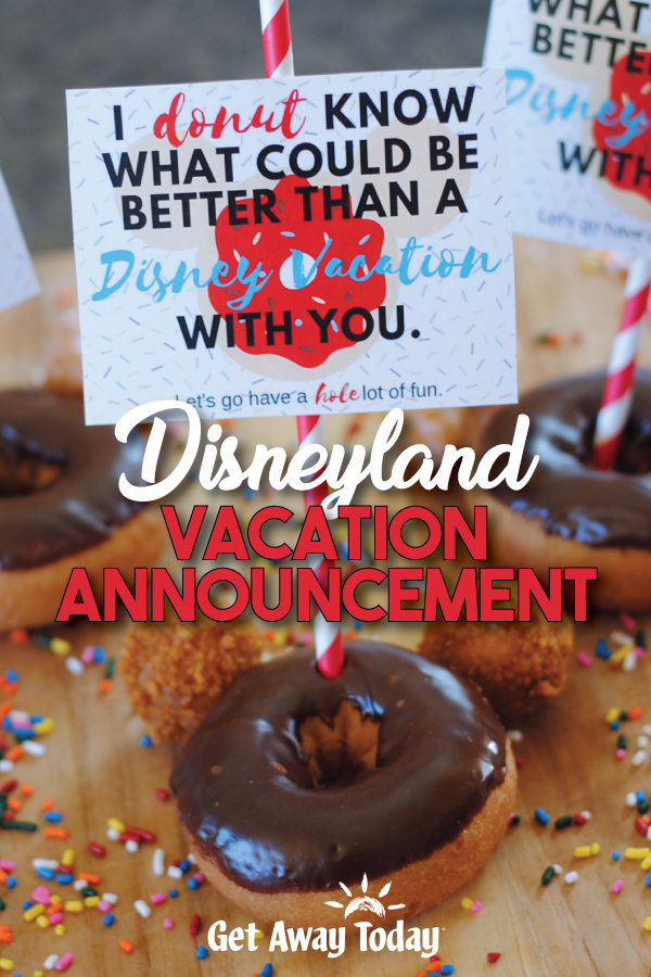 Disney Vacation Announcement Mickey Mouse Donuts || Get Away Today
