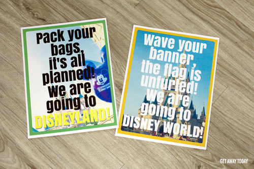 Vacation Surprise Disney Puzzle Templates
