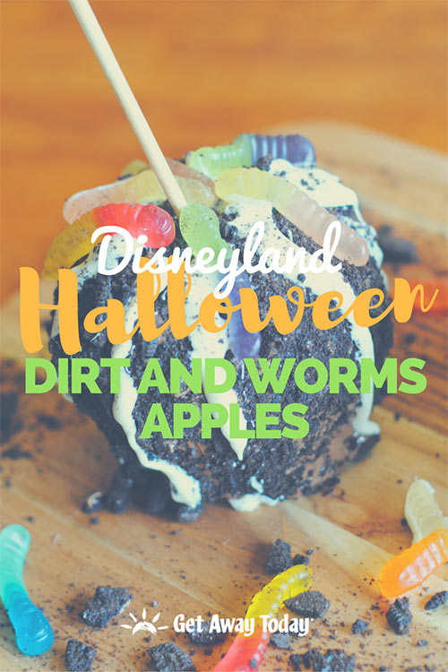 Disneyland Halloween Dirt and Worms Apple Recipe