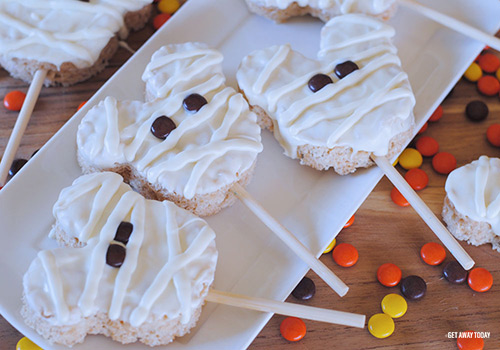 Disneyland Mickey Mummy Crispy Treats Halloween