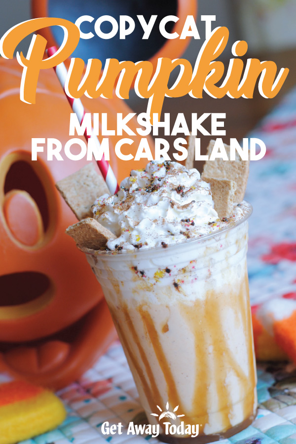 Copycat Disneyland Pumpkin Spice Shake at Cars Land || Get Away Today