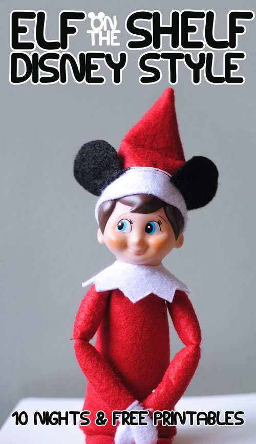 10 Disney Elf On A Shelf Ideas And Free Printables