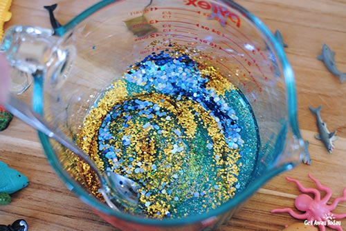 Finding Nemo Glitter Slime - Mixed Glitter Scales