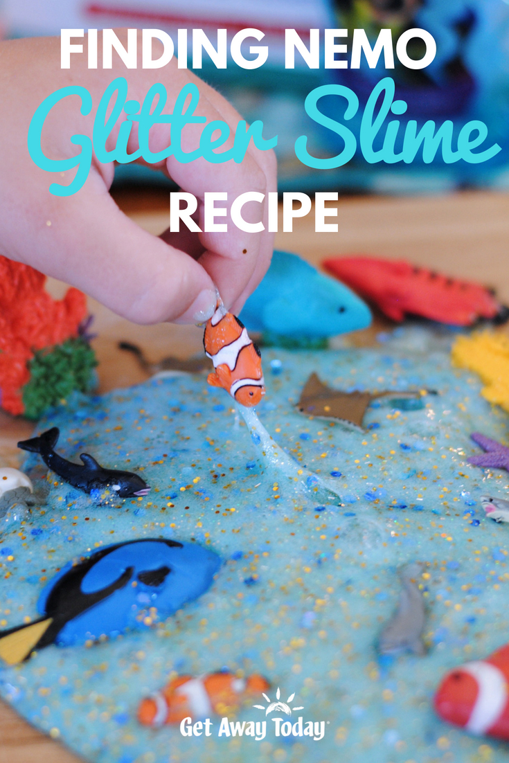 Finding Nemo Glitter Slime Recipe || Get Away Today
