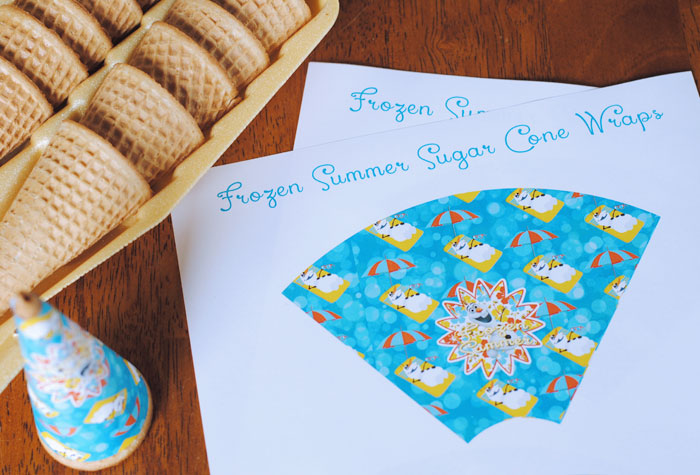 Frozen Ice Cream Cone Wrap Free Printable Download