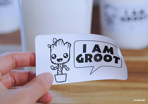 Groot Party Label