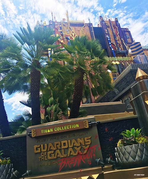 Groot Party Guardians of the Galaxy Mission Breakout Disneyland