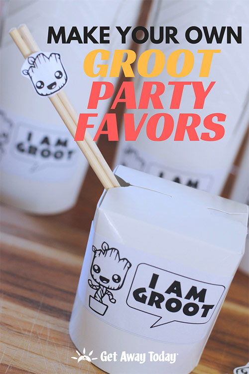 Make Your Own Groot Party Favors || Get Away Today