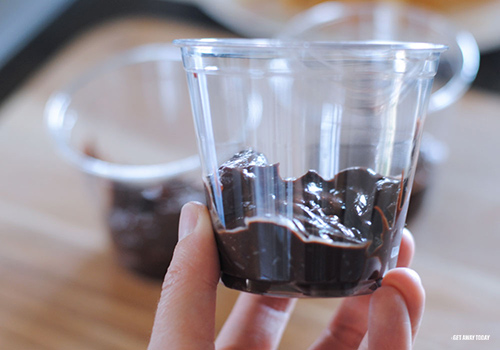 Groot Pudding Cups Fill Cups