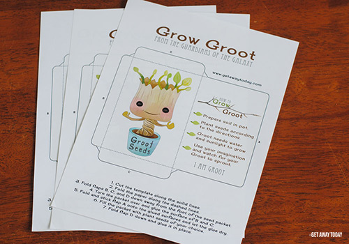 Grow Your Own Groot Free Printable