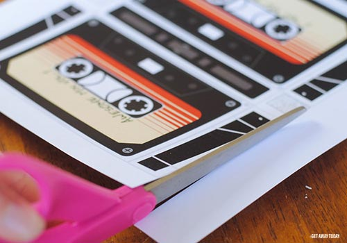 Guardians of the Galaxy Cassette Box Cut Line