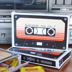 Guardians of the Galaxy Cassette with Free Printable