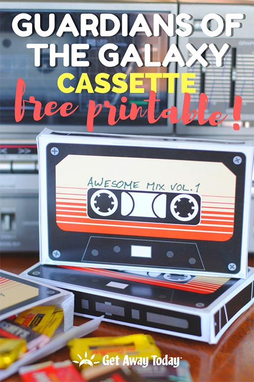 Guardians of the Galaxy Cassette with Free Printable || Get Away Today