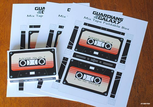 Guardians of the Galaxy Cassette Box Printable