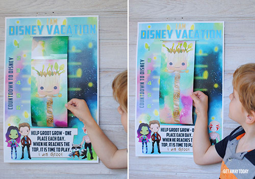 Guardians of the Galaxy Disney Vacation Countdown Groot Growing