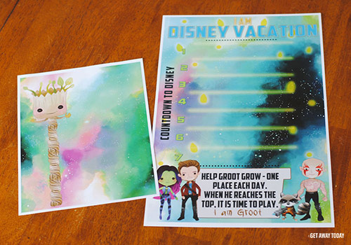 Guardians of the Galaxy Disney Vacation Countdown Printable