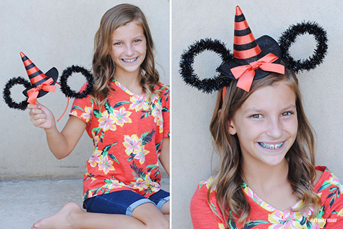 Halloween Minnie Ears DIY