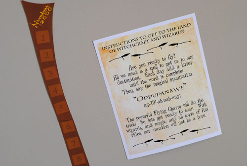 Harry Potter Flying Charm Vacation Countdown