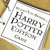 photograph relating to Would You Rather Printable identify Harry Potter Would By yourself As a substitute Activity