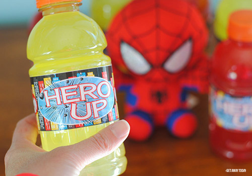 Printable Super Hero Drink Labels Finished