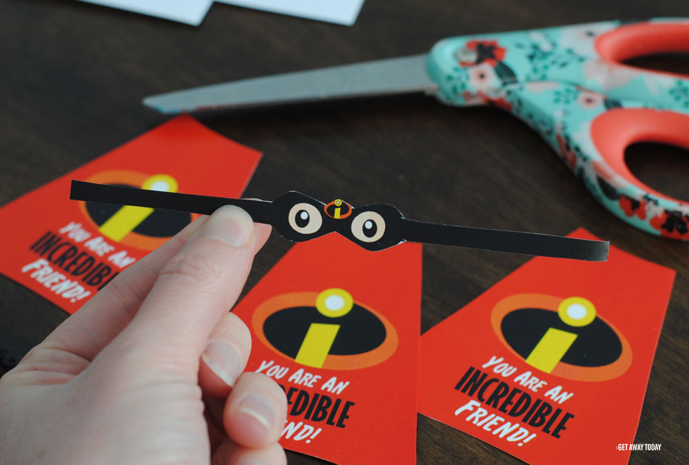 Incredibles Valentines Mask