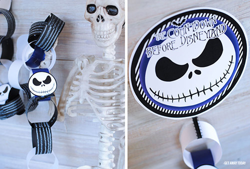 Jack Skellington Countdown Chain Collage