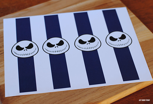 Jack Skellington Countdown Chain Printable