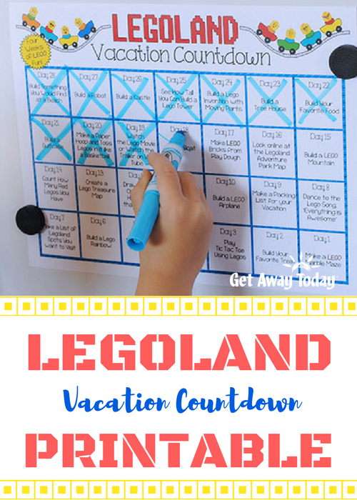 LEGOLAND Countdown Calendar Pin Image || Get Away Today