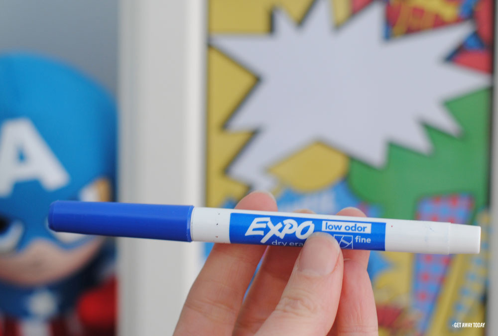 blue expo marker