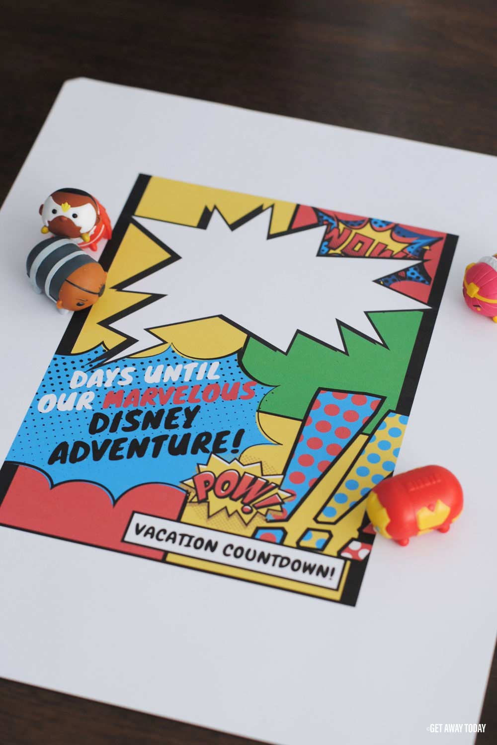 Marvel Printable California Adventure Vacation Countdown