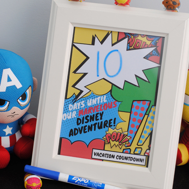Marvel Printable - Vacation Countdown!