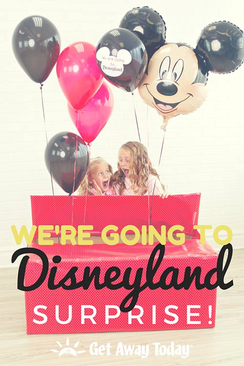 We're going to Disneyland vacation surprise