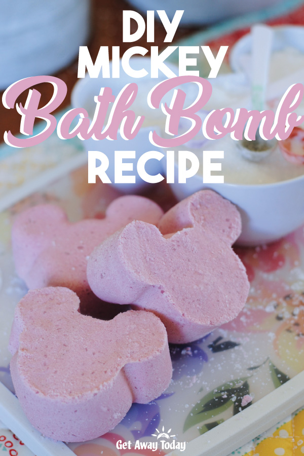 DIY Mickey Bath Bomb Recipe || Get Away Today