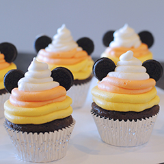 The Cutest and Easiest Candy Corn Mickey Halloween Cupcakes