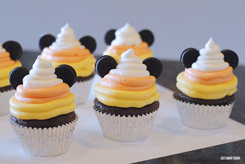 Mickey Halloween Cupcakes Candy Corn