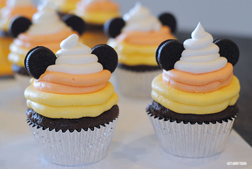 Mickey Halloween Cupcakes Candy Corn Two