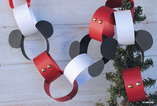 Mickey Mouse Holiday Countdown Chain Loops