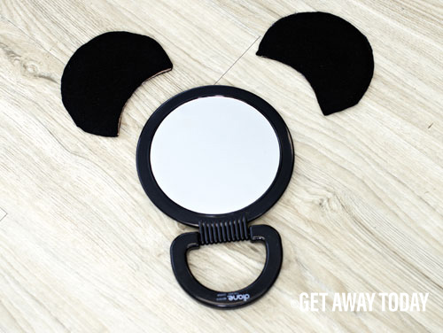 Mickey mirror black felt ears