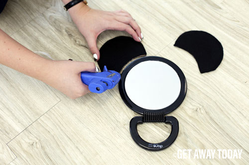 Gluing ears onto Mickey Mirror