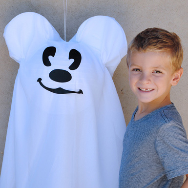 Make Your Own Mickey Mouse Halloween Ghost
