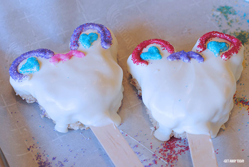 Mickey Mouse Sugar Skull Treats Hearts